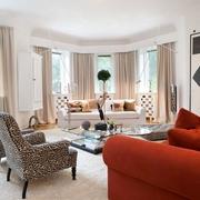 现代艺术公寓客厅窗户效果图