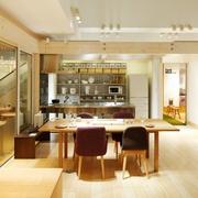 清新MIUI复式楼欣赏餐厅陈设