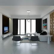 白色现代风格设计案例欣赏客厅吊顶