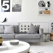 素色不失文艺的简约公寓欣赏客厅