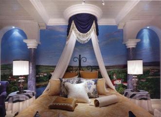 地中海温馨效果图欣赏卧室