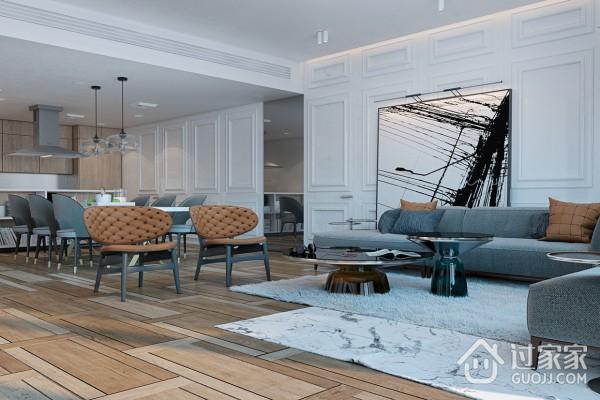 138平米三居室现代风格设计 适合年轻人的美家