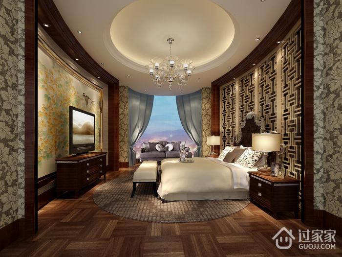 中式风效果图欣赏卧室吊顶