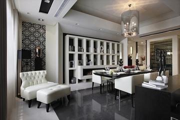 新古典经典灰白黑住宅欣赏客厅陈设