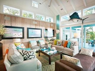 蓝色海滨美式别墅欣赏