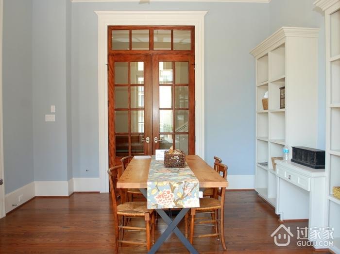 美式装饰别墅效果图赏析书桌设计
