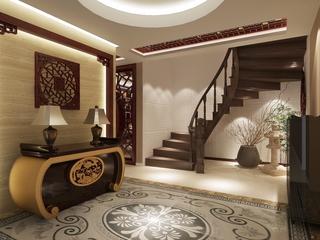 中式家装别墅楼梯设计风格