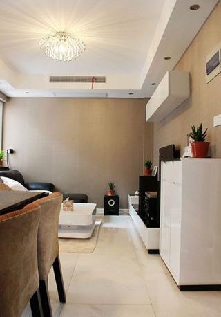 80平三居室现代风欣赏客厅吊顶