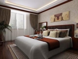 109平新中式住宅欣赏卧室窗户