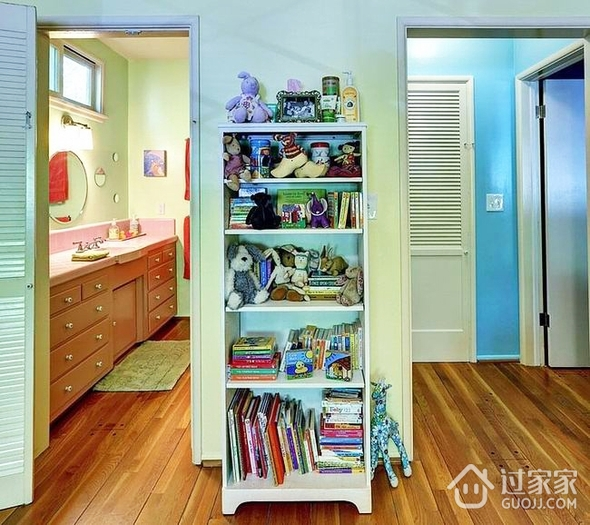 美式乡村蓝色住宅欣赏洗手间