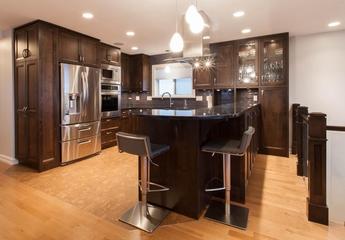 现代时尚装饰设计效果厨房全景