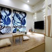 58平简约木色三居室休闲室设计图