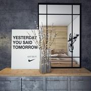 时尚现代简约卧室墙面效果图