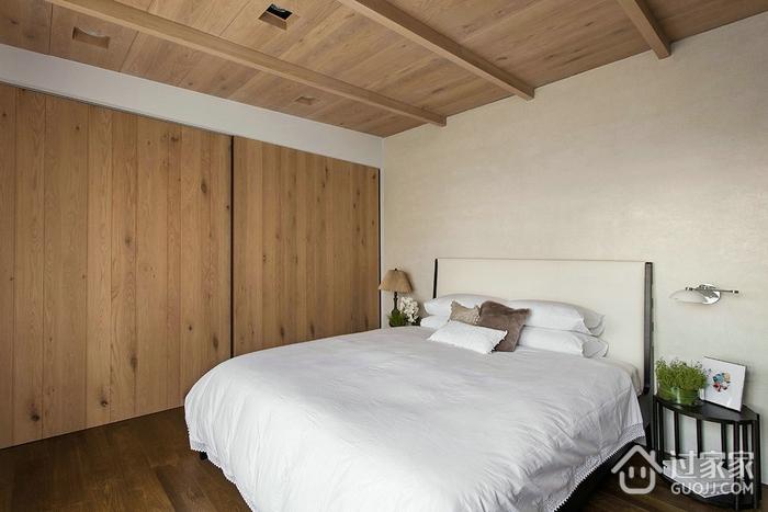 卧室木饰吊顶装修效果图 自然的美