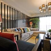 中式风格装修客厅效果图片2014
