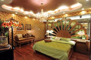 深情东南亚住宅欣赏卧室