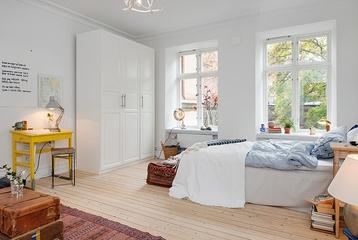 36平白色宜家住宅欣赏卧室