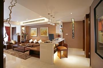 新中式风格吧台全景