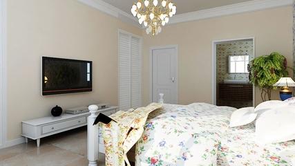 淡雅现代风住宅欣赏卧室电视柜