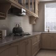厨房木色橱柜装饰图 为妈妈打造舒适家