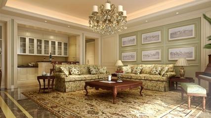 欧式奢华三居室欣赏