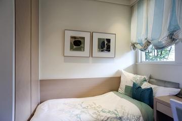 新古典三居室样板房案例欣赏卧室照片墙