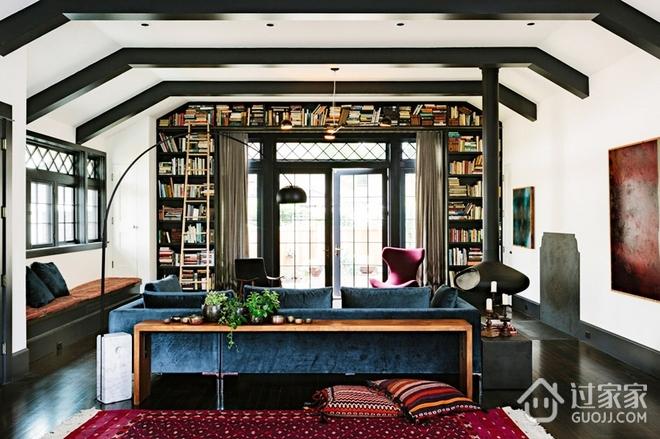 图书馆改造公寓住宅欣赏客厅