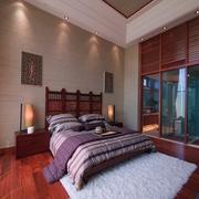 卧室床挂画背景墙效果图