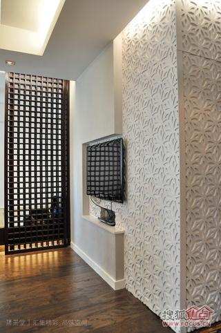 现代简约公寓电视背景墙效果