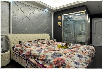 124平新古典三居欣赏卧室背景墙