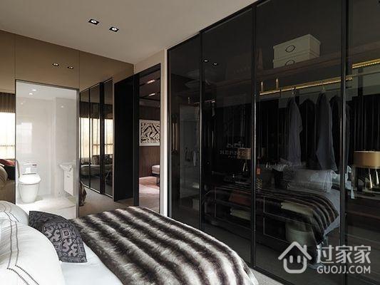 76平现代风两居室欣赏卧室吊顶