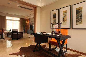 书房书桌摆放图 典雅新中式三居室