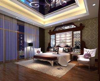 华丽新古典复式欣赏卧室设计图