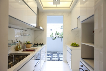 新古典三居室样板房案例欣赏厨房橱柜