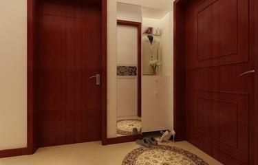 80平简约三居室欣赏玄关鞋柜