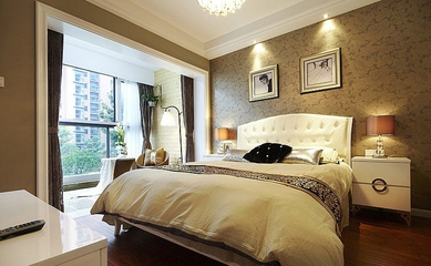 109平简约三居案例欣赏卧室吊顶