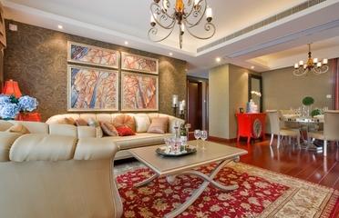 典雅法式装饰住宅欣赏客厅全景