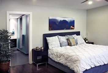 现代蓝色金典风格欣赏卧室