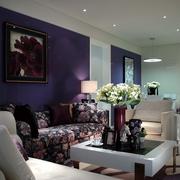 现代淡雅风格沙发背景