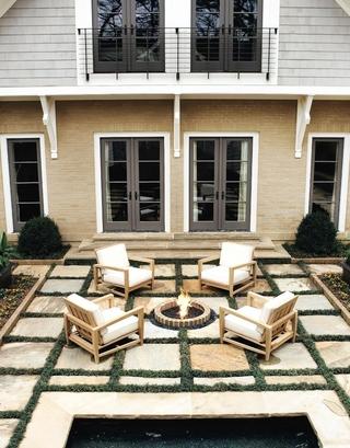 美式时尚风格住宅效果欣赏花园