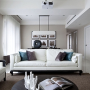 现代简约室内装修套图客厅直视图