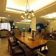 豪华欧式住宅设计套图餐厅吊灯