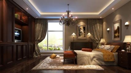 中式雅居三居室欣赏客厅吊顶