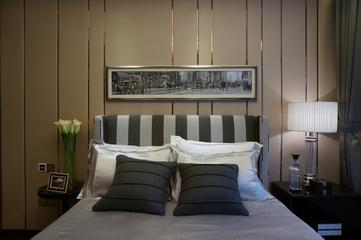 新古典低调样板间欣赏卧室背景墙