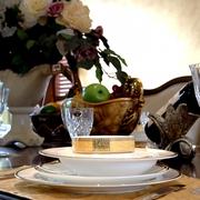 欧式别墅装饰效果餐桌摆件