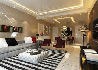 114平简约三居设计欣赏客厅背景墙