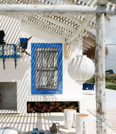 纯天然白色度假别墅欣赏庭院