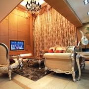 新古典风客厅窗帘