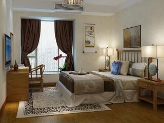 110平雅致中式住宅欣赏卧室飘窗