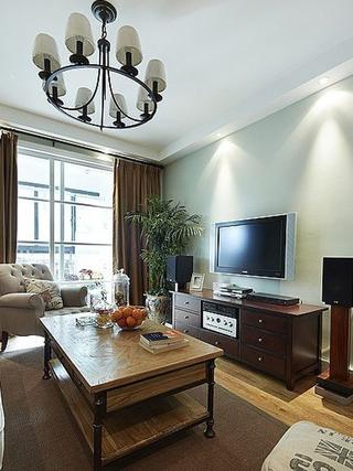 90平三室两厅住宅欣赏客厅陈设